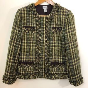 CHICO'S Size 2 (12) Jacket Blazer Tweed Boucle